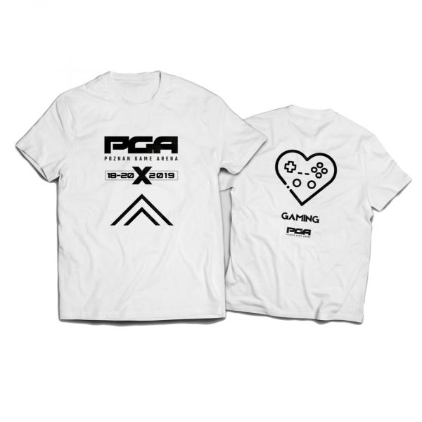 Koszulka dziecięca biała PGA