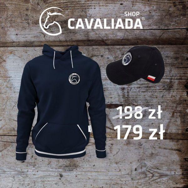 Bluza granatowa Cavaliada Signet + czapka z daszkiem